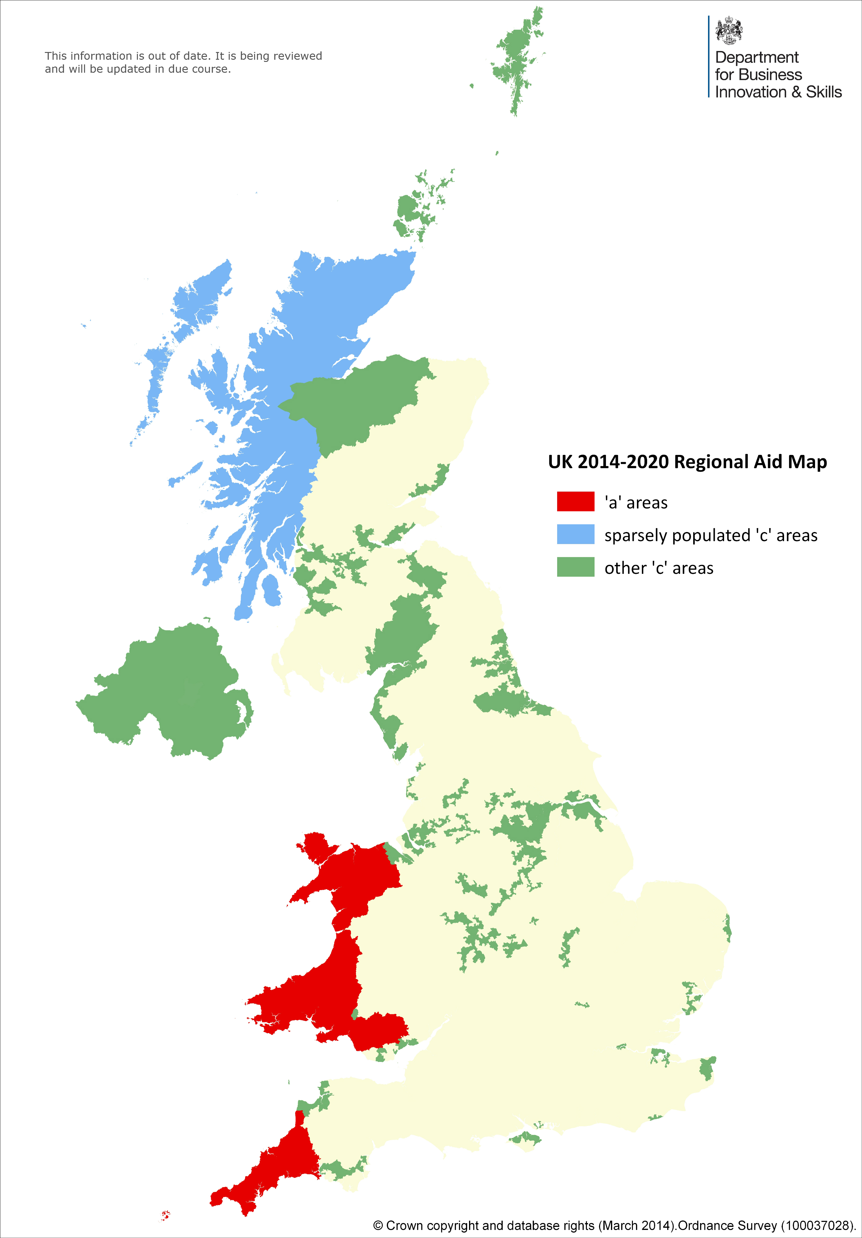 Uk Map Images.Assisted Areas Map 2014 To 2020 Stage 2 Gov Uk