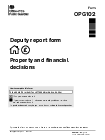 Annual  Report Form   Deputy Annual Report Forms Accounting For Your Actions Gov Uk