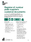 Number Plate Suppliers >> Register Of Number Plate Suppliers Customer Documents