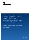 thumbnail United Kingdom Labour Market Enforcement Annual Report 2017 to 2018.pdf