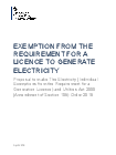 thumbnail exemption from the requirement for a licence to generate electricity notice 2019.pdf