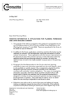 Letter Template Planning Permission. Letter about sensitive information in applications for planning permission  and listed building consent 24 May 2007 Planning guidance letters to chief officers GOV UK