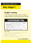 Key stage 1 tests: 2019 English reading test modified