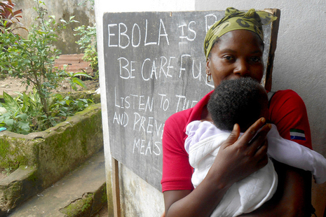 Ebola poster in West Africa