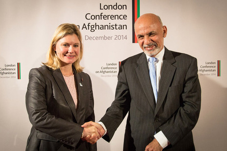 International Development Secretary Justine Greening meets Afghan President Ashraf Ghani. Picture: Simon Davis/DFID