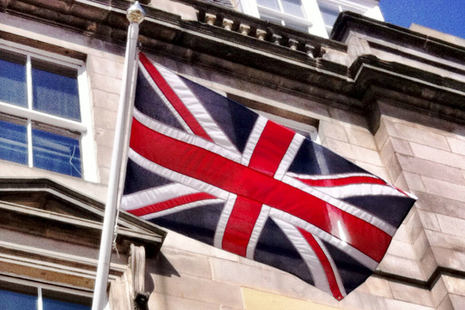 union flag outside Scotland Office