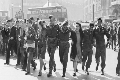 VJ Day celebrations in London 1945