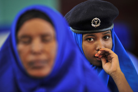 Police recruits at Mogadishu's training academy, Photo: Tobin Jones/UN Photo