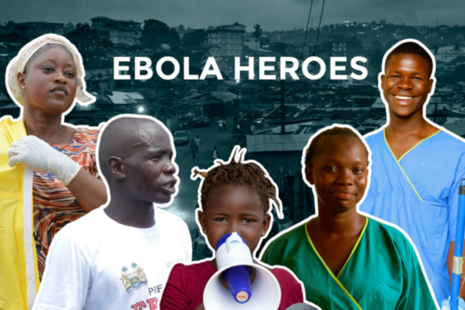 Ebola heroes graphic