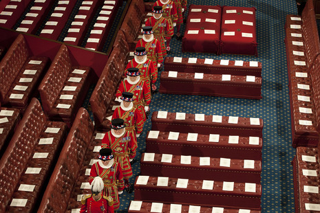 Beefeaters in Lords. Credit: Press Association