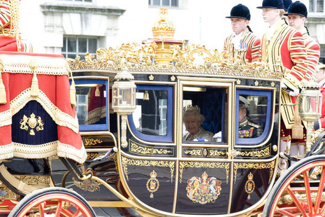 HM Queen on the way to the State Opening of Parliament