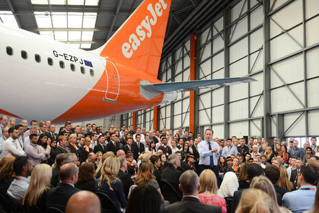 Prime Minister speaking to staff at easyJet, Luton on why the UK should stay in a reformed EU.