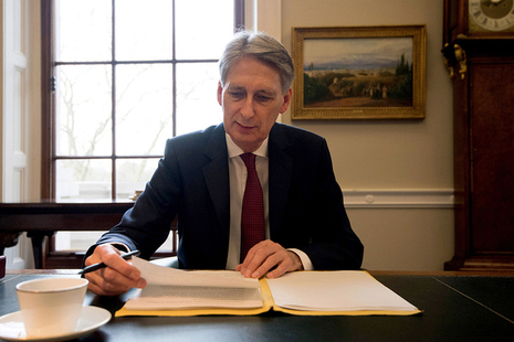 Chancellor writing his Budget speech