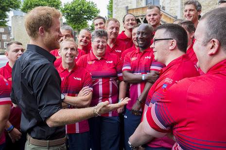 Prince Harry meeting members of the 2017 UK Invictus Games Team
