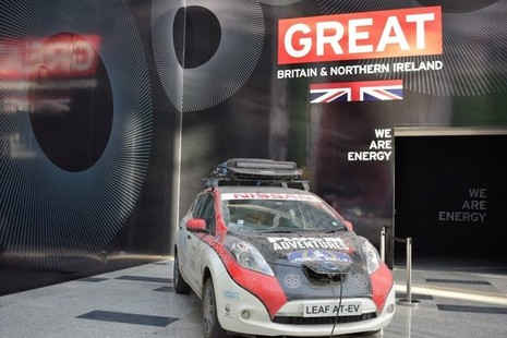 Chris Ramsey's Car Charging at the UK Pavilion.
