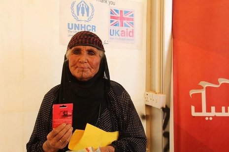 A woman supported by UK aid in Iraq