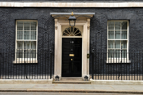 The door to No10 Downing Street
