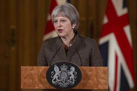 The PM delivers her press conference statement on Syria