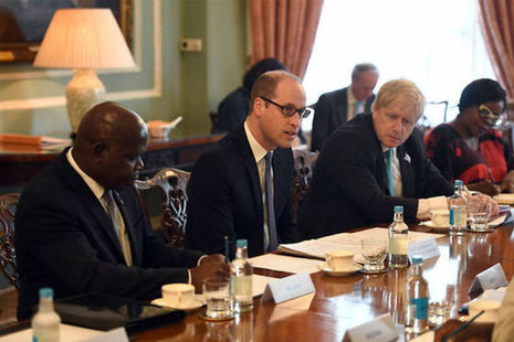 The Duke of Cambridge, the Foreign Secretary and African Commonwealth leaders discussing illegal wildlife trade