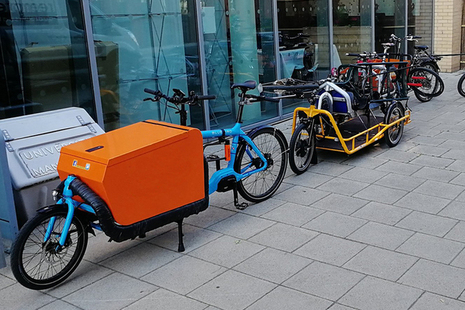 Picture of some e-Cargo bikes.