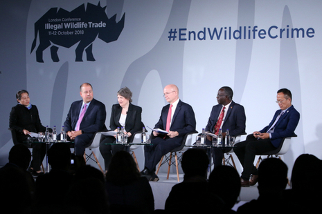 Illegal Wildlife Trade conference session on 12 October 2018