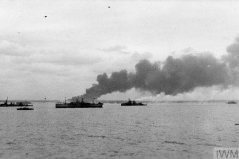 Ships arrive in Normandy on 6 June 1944