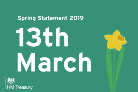 Spring Statement 2019 date announced: 13th March