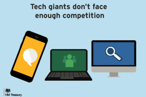 Tech giants don't face enough competition (image of laptop, mobile phone and computer)