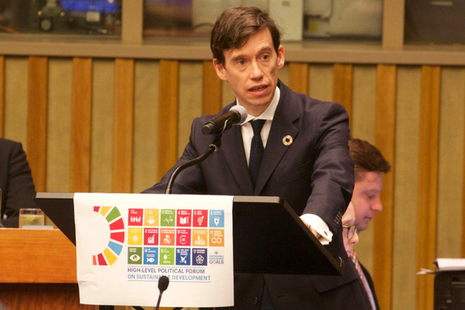 Rory Stewart speaking about the Global Goals at the United Nations.