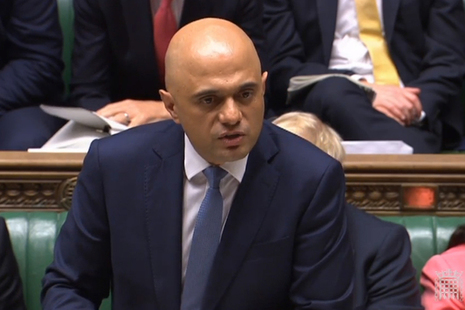 Chancellor Sajid Javid delivering his Spending Round statement in Parliament