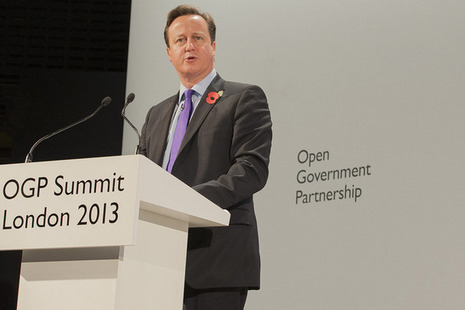 David Cameron speaks at the Open Government Partnership 2013