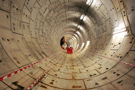 A crossrail tunnel