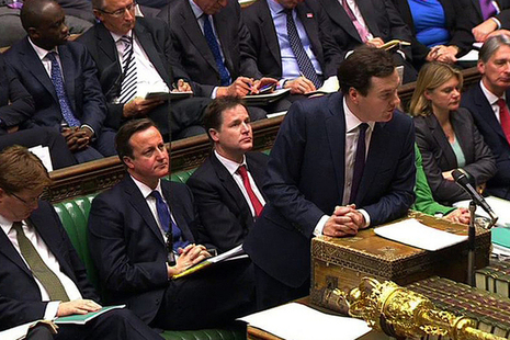 Chancellor delivering speech in the House of Commons