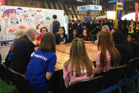 Vince Cable at the Big Bang Fair
