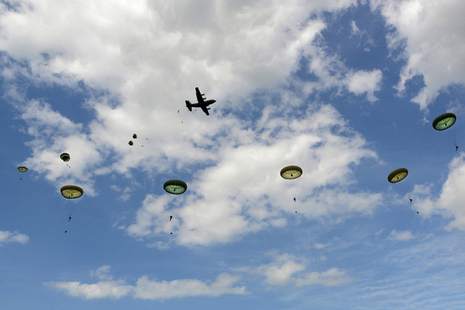 Military descend from the skies to mark D-Day 70