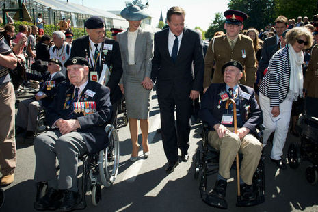 PM joins veterans in Normandy for D-Day 70th anniversary