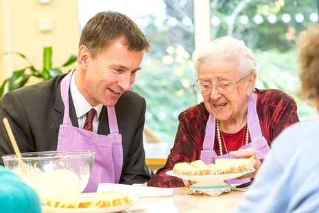 Secretary of State Jeremy Hunt meeting a patient with dementia