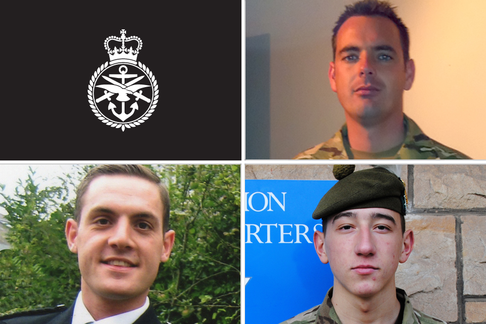 Corporal William Savage, Fusilier Sam Flint and Private Robert Murray Hetherington