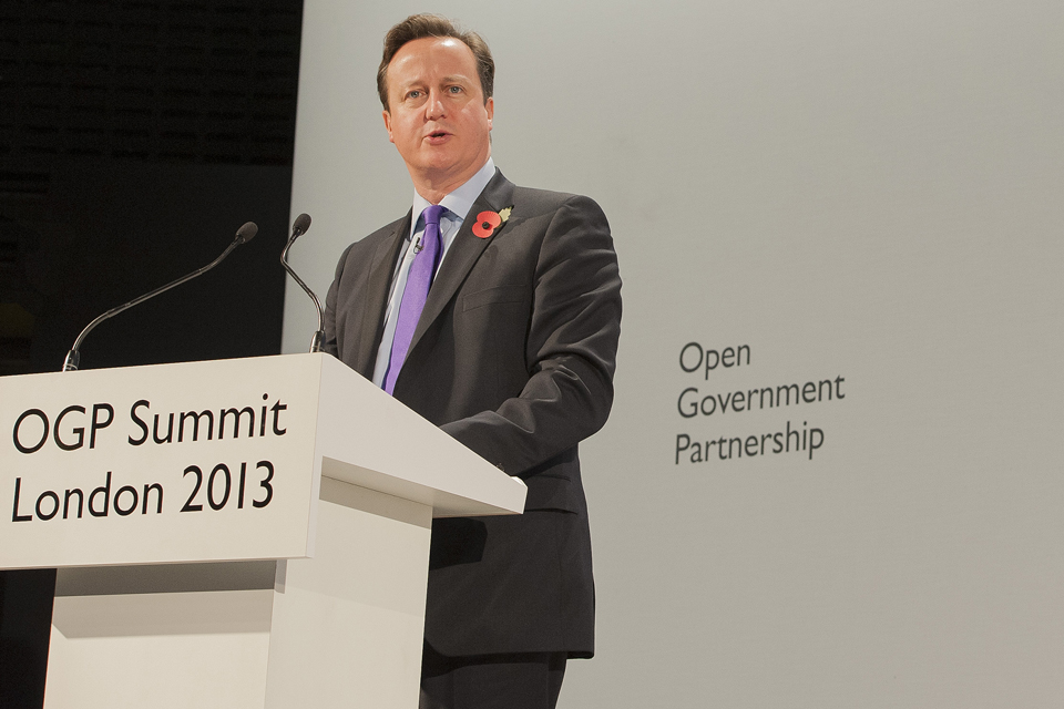 PM speech at Open Government Partnership 2013