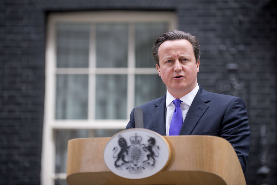 Prime Minister David Cameron making a speech