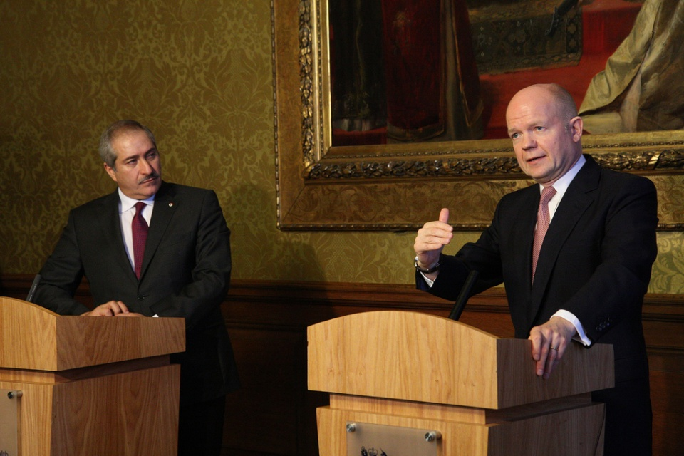William Hague and Jordanian Foreign Minister Nasser Judeh