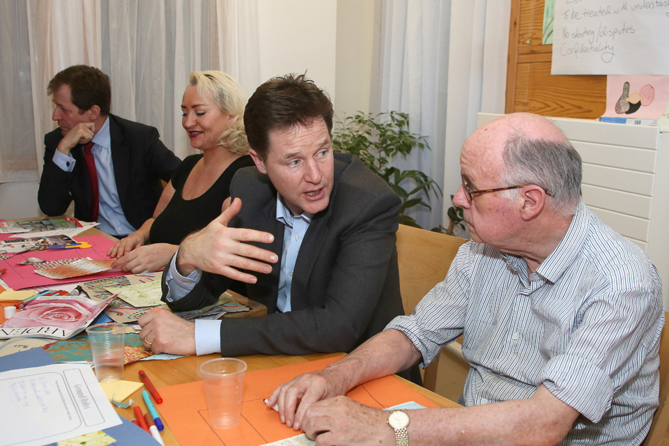 Nick Clegg visiting mental health services