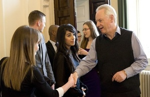 Civil service apprentices with Francis Maude