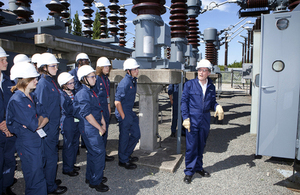 Teenagers on work experience at the National Grid