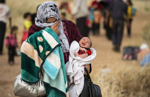 Syrian woman and baby