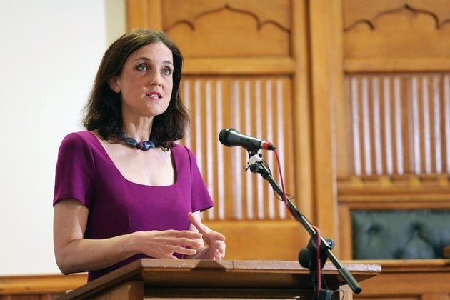 Theresa Villiers at the Assembly Building