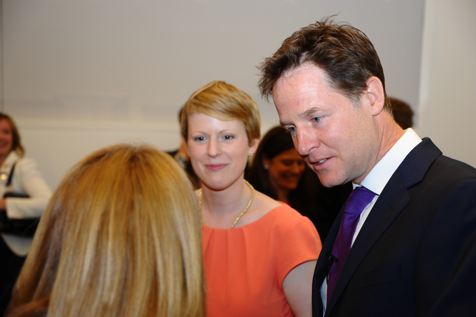 Nick Clegg at the launch of Cityfathers