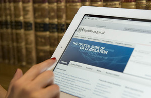 Using the legislation.gov.uk website. Crown copyright
