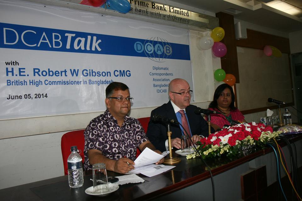 DCAB talks: Speech by British High Commissioner to Bangladesh