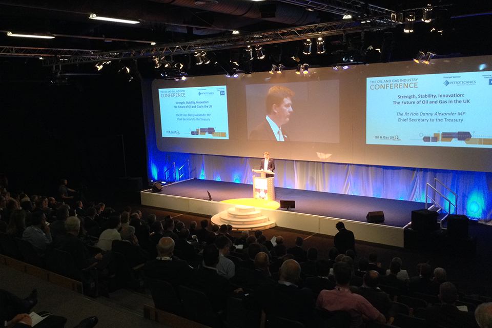 Chief Secretary to the Treasury, Danny Alexander speaking at Oil and Gas UK's annual conference